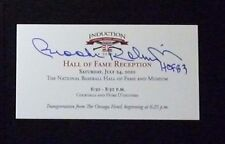 Orioles Brooks Robinson Autograph 2010 Hall Of Fame Reception Ticket Dawson Auto