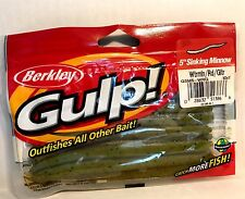 """Berkley Gulp 5"""" Sinking Minnow Watermelon Red Glitter 10 Lures Per Pack"""