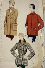 New Listing1950s Mccall 3327 Vintage Sewing Pattern Jacket Coat Bust 34