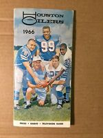 1966 Houston Oilers Football Press-Radio-Television Media Guide VG/EXCELLENT