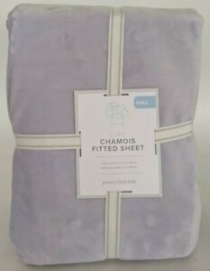 NWT Pottery Barn Kids Luxe Chamois fitted full sheet, lavender purple