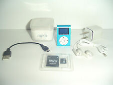 8Gb Mp3 Player Blue Micro Sdhc Card Included + Charger + Adapter Bundle In Usa