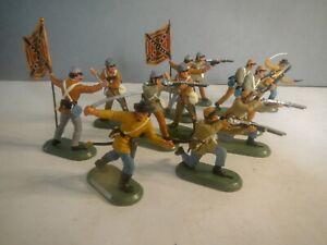 Britains Super Deetail American Civil War ACW Confederate Butternut Infantry x12