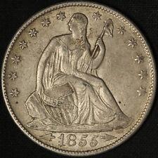 1855-O Seated Liberty Half Dollar Arrows - Free Shipping USA