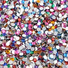 2000pcs Women DIY Decoration 3D Acrylic Nail Art Gems Crystal Rhinestones Tips