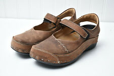 Wolky Womens Comfort Walking Maryjane Leather Clogs Shoes Sz 38 US 7