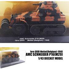 AMC Schneider P16(M29)1ere GRDI Mettet(Belgium)-1940 1/43 DIECAST MODEL TANK IXO
