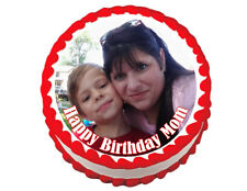 Custom photo round edible party cake topper cake image