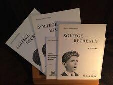 Raoul Carpentier Solfège récréatif en 4 volumes éditions Magnard