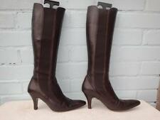 Hobbs Knee High Boots 100% Leather Pull On Shoes for Women