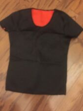 WOMENS SHORT SLEEVE SCUBA SURF SWIM SUN COMPRESSION TOP BLACK SIZE L/ XL
