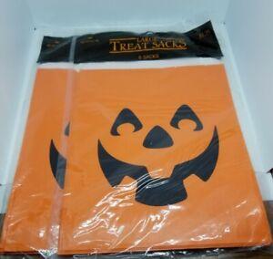 Vintage 1986 Hallmark Halloween Jack-o-lantern Treat bags Lot of 2 Sealed packs