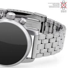 Uhrarmband Metall 20mm POLJOT matt satiniert Anstoß gerade Edelstahl 5 Knoten