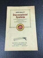 Antique 1925 ACME Decorator's Catalogue Guide Book Stencils Lead Walls Ceilings