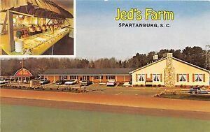 A38/ Spartanburg South Carolina SC Postcard Chrome Jed's Farm 2View Restaurant
