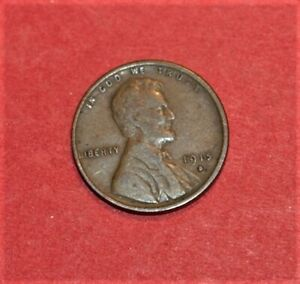 1915 D Lincoln wheat penny FINE condition nice starter set coin