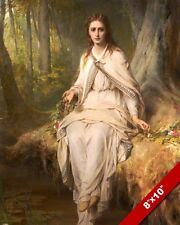 OPHELIA WOMAN OF WILLIAM SHAKESPEARE PLAY HAMLET  PAINTING ART REAL CANVAS PRINT