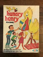 """1969 Vintage (Ideal) """"HUNGRY HENRY GAME"""" Family Board Game, RARE!"""