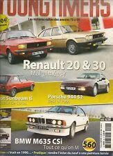 YOUNGTIMERS 20 BMW M635 CSi PORSCHE 944 S2 R20 R30 TALBOT SUNBEAM ti CITROEN LN