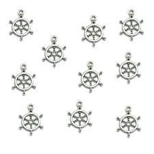 20 Tibetan Silver Boat Wheel Charm Ship Pendants