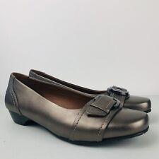 *PRELOVED* HOTTER Darcey Bronze Leather Pumps Shoes Size UK 7 | EUR 41 | US 9