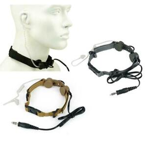 Z-Tactical Airsoft Tactical Throat Mic For 2 Way Radio With Ear Piece Z033 UK