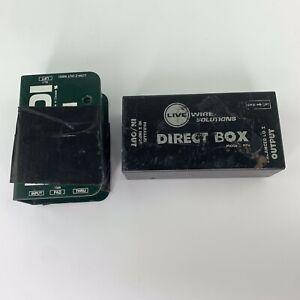 Radial Pro DI Passive Direct Box plus LiveWire Solutions