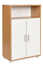 Montaggio a Parete Colore: Bianco Armadietto da Bagno a Doppia Anta in Legno 56 x 13 x 58 cm con mensola YAKOE