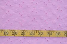 EMBROIDERED EYELET PINK  COTTON BLEND FABRIC BY THE 1/2 YARD