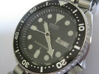 BLACK DIAL SEIKO 200M AUTO MECHANICAL SCUBA DIVER MENS WATCH 7S26-0020 - SUPERB
