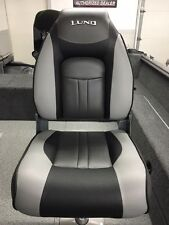 New! 2017 Lund Standard Seat - New - Grey & Black - Fishing Boat Seat