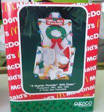 Enesco 1991 McDonald's Christmas Ornament  - A Quarter Pounder With Cheer 581569