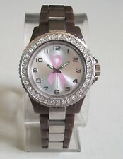 Women's Breast Cancer Awareness Pink Ribbon Rhinestones Fashion Wrist Watch