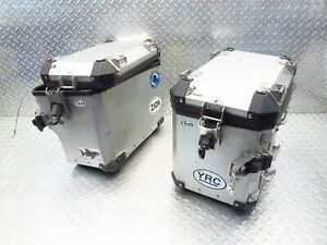 2007 07-12 BMW R1200GS Adventure OEM Saddlebags Luggage Storage Boxes Lot DAMAGE