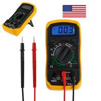 Digital LCD Multimeter AC/DC Voltmeter Ammeter OHM Circuit Checker Tester Meter