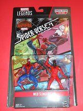 MARVEL LEGENDS SERIES WEB SLINGERS SCARLET SPIDER-MAN  3.75in. COMIC PACK