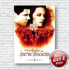 Twilight Saga New Moon 2009 Film Movie Poster A4, A3, A3+ Borderless Art Print