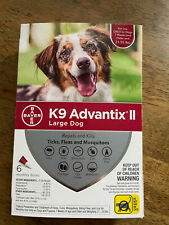 K9 Advantix Ii Large Dog 6-Pack Flea Lice Larvae Tick Topical Treatment