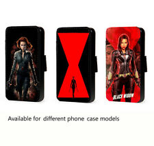 Black Widow Phone Case Movie inspired leather wallet flip card mobile case cover