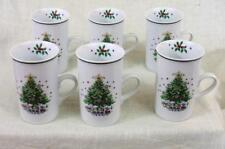 Six - SALEM - CHRISTMAS EVE - PORCELAIN - CHRISTMAS EVE - MUGS