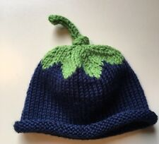 Handknit Newborn Blueberry Hat, Brand new and Customizable!