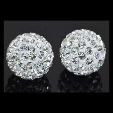 Lot de 2 Perles Shamballa - Couleur Cristal -10mm #51#