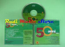 CD 50 ANNI DI CANZONI ITALIANE 4 compilation PROMO 2000 DE*ANDRE'*RON*OXA(C6**)