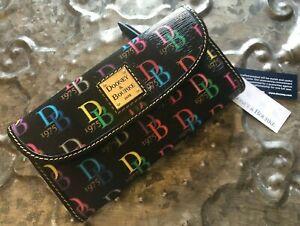 DOONEY & BOURKE~DB75 Black Multi Continental Clutch Wallet~BRAND NEW~GIFT BOX!