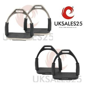 Flexi Bent Leg Safety Stirrups Stainless Steel with Rubber FP*SAME DAY DISPATCH*