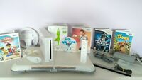 NINTENDO Wii CONSOLE BUNDLE WITH Wii FIT BOARD + 6 GAMES MARIO KART & CONTROLLER