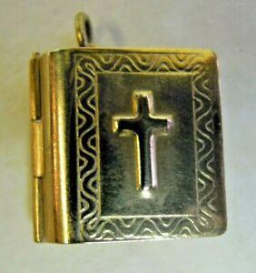 Vintage 9 Carat Gold Holy Bible Pendant/Charm