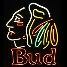 "New Bud Light Chicago Blackhawks Beer Neon Sign 24""x20"" Ship From USA"
