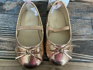 Gymboree nwt girls rose gold Crackle  dress shoes new size 7