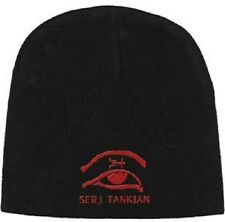 SERJ TANKIAN Red Logo Embroidered Black Beanie Cap Rock Official Merchandise